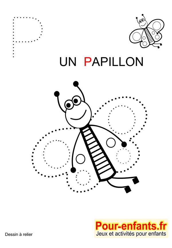 jeux imprimer maternelle jeu dessins a relier enfants de maternelle imprimer gratuitement dessin de papillon - Jeux Gratuit De Dessin