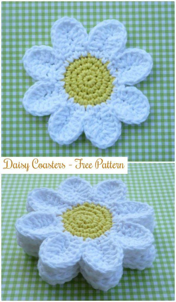 70 Easy Free Crochet Coaster Patterns For Beginners Crochet Knit