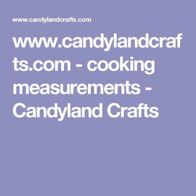 www.candylandcrafts.com - cooking measurements - Candyland Crafts