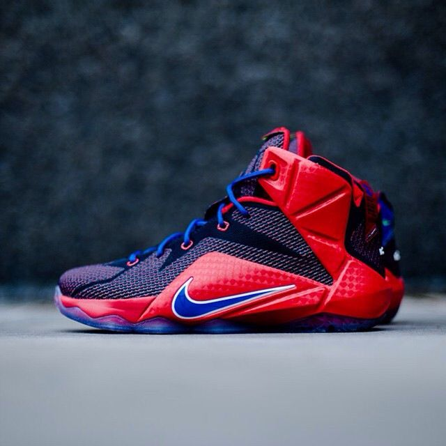 The Nike LeBron 12 GS Superman is set to release this week. The Nike LeBron  12 GS Superman University Red/Game Royal will be available in grade school  size