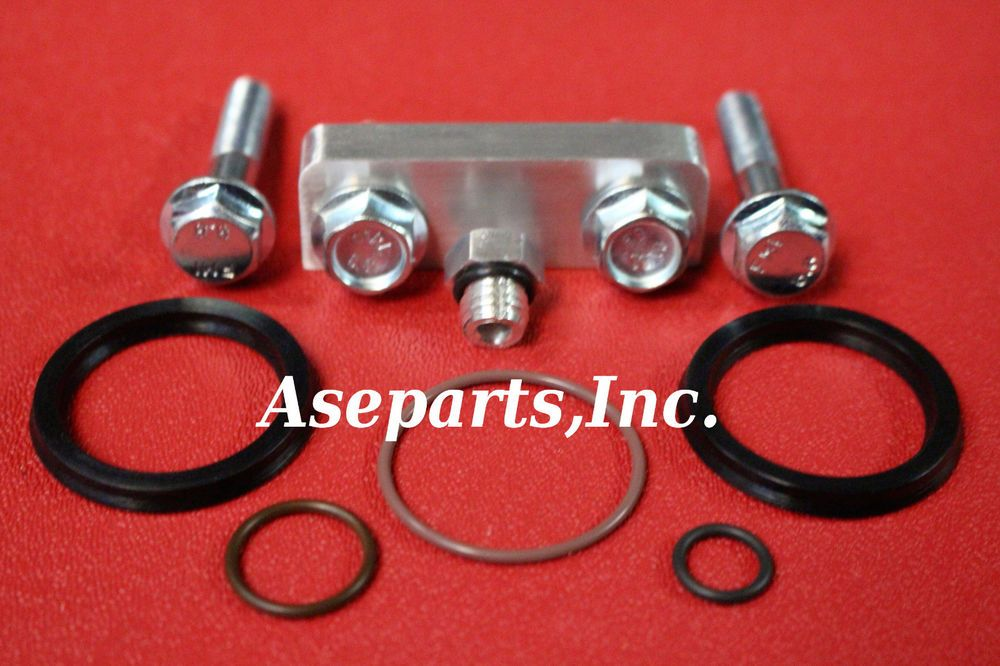 duramax fuel filter housing 3/8 inch spacer kit w/stainless screw +o-rings  01-13 #asepartsinc