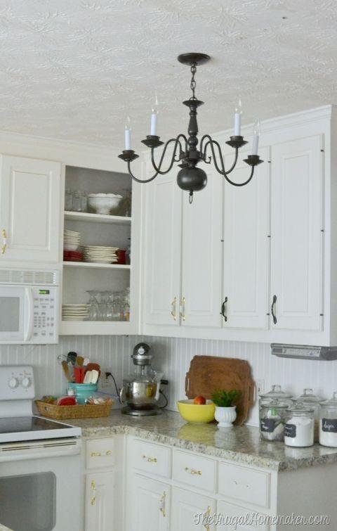 New $4.00 thrift store light fixture in the kitchen (Kitchen ...