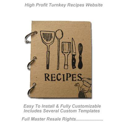 Turnkey Recipe Sales Website - Cash System (MRR)