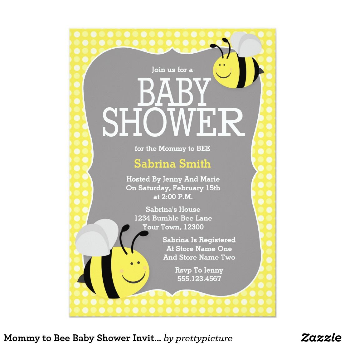 Mommy to Bee Baby Shower Invitation | Shower invitations, Fun baby ...