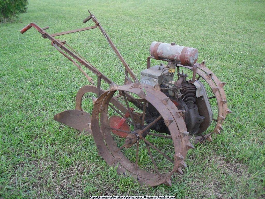 1950 standard walsh garden tractor antique farm garden for Garden implements tools