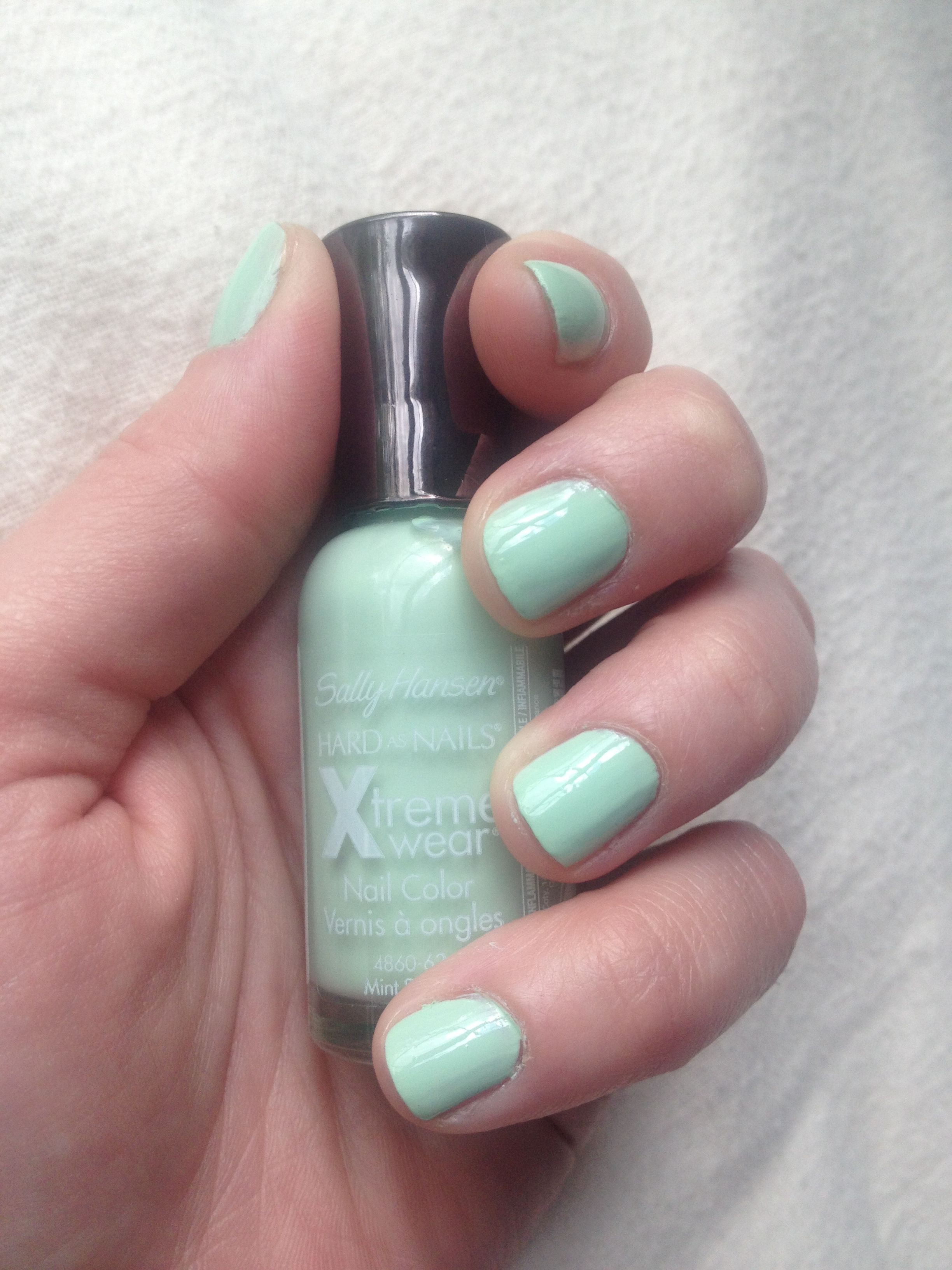 Sally Hansen Hard as Nails Xtreme Wear in Mint Sorbet | Nails Baby ...