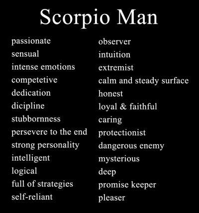 Characteristic of scorpio man