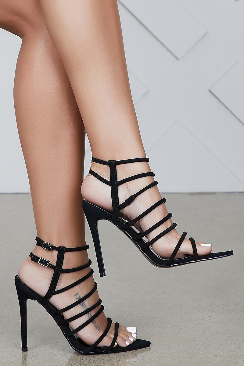 bdb90dc2d43 Endless Strappy Heel (Black)
