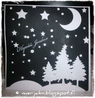 Joulukorttien tekokin on aloitettu ja jouluisia virkkauksia