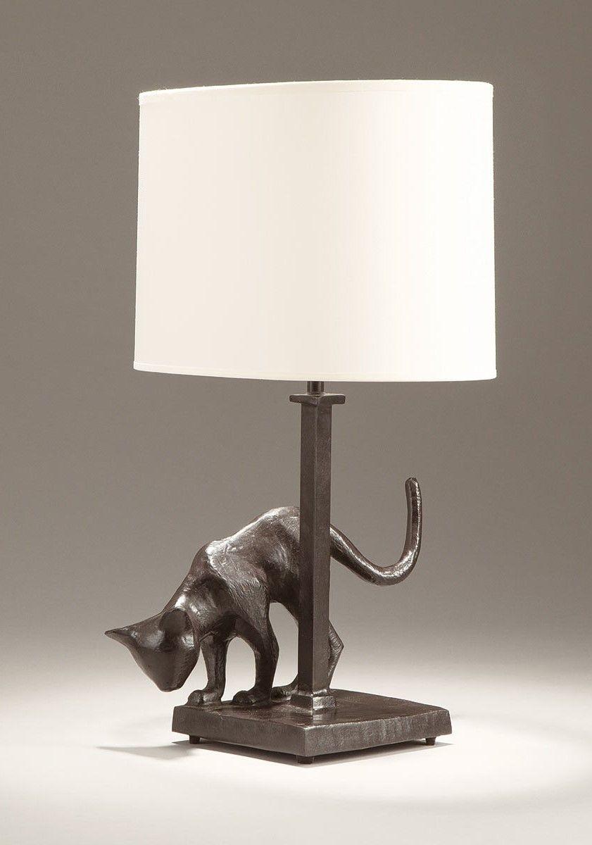 Designer Lampe Aus Bronze Hergestellt In Frankreich Katze Lampe