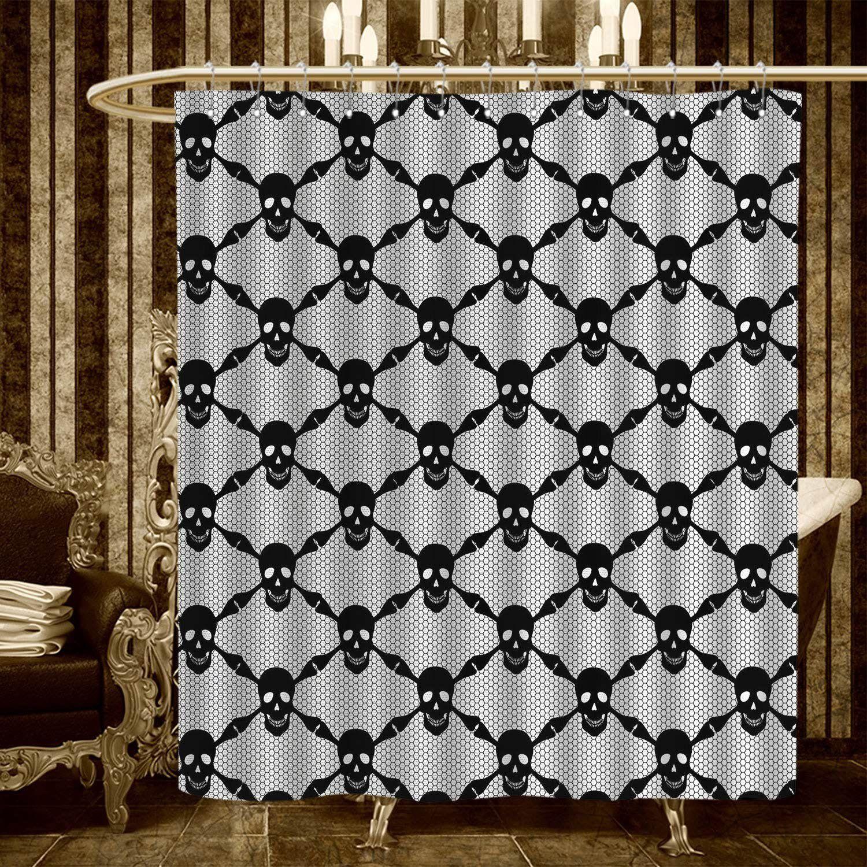 Gothic Shower Curtains Digital Printing Halloween Horror Theme