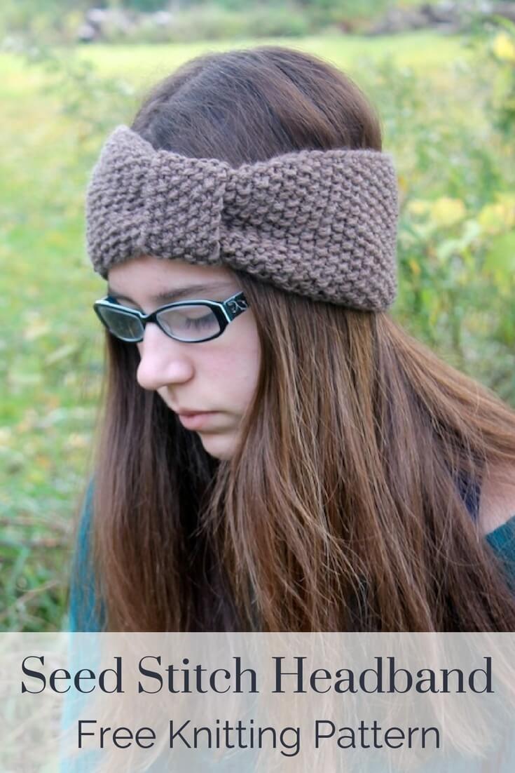Seed Stitch Headband Knitting Pattern | Seed stitch, Beginner ...