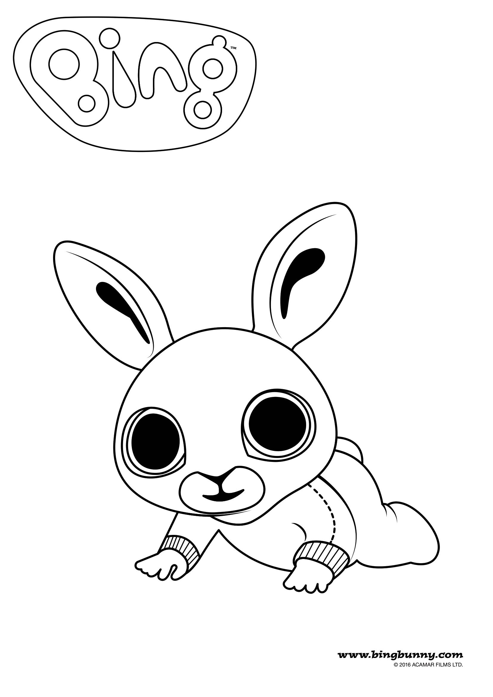 Pin By Michaela Hornikova On Omalovanky In 2020 Bing Bunny Bing Coloring Books