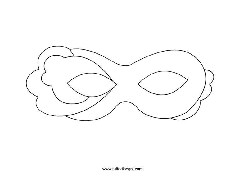 Maschera di carnevale da colorare e ritagliare for Mascherina carnevale da colorare