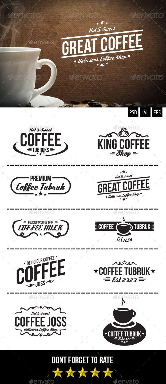 Retro Coffee Badges | Lebenslauf und Grafiken