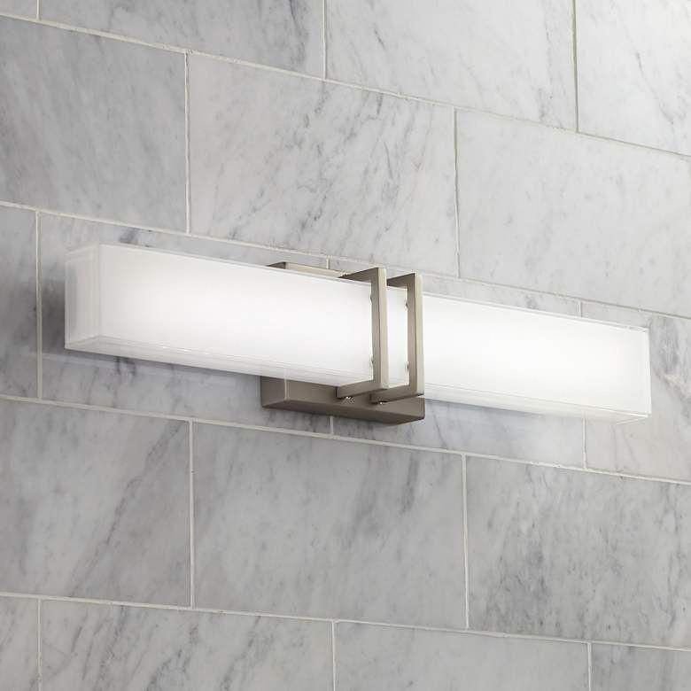 Photo of Possini Euro Exeter 24″W Nickel LED Bathroom Vanity Light – #5T767   Lamps Plus