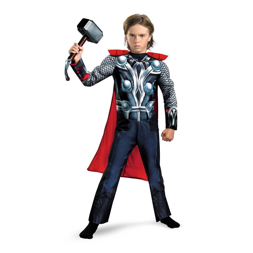 Disfraz niño Thor musculoso, Los Vengadores | Thor