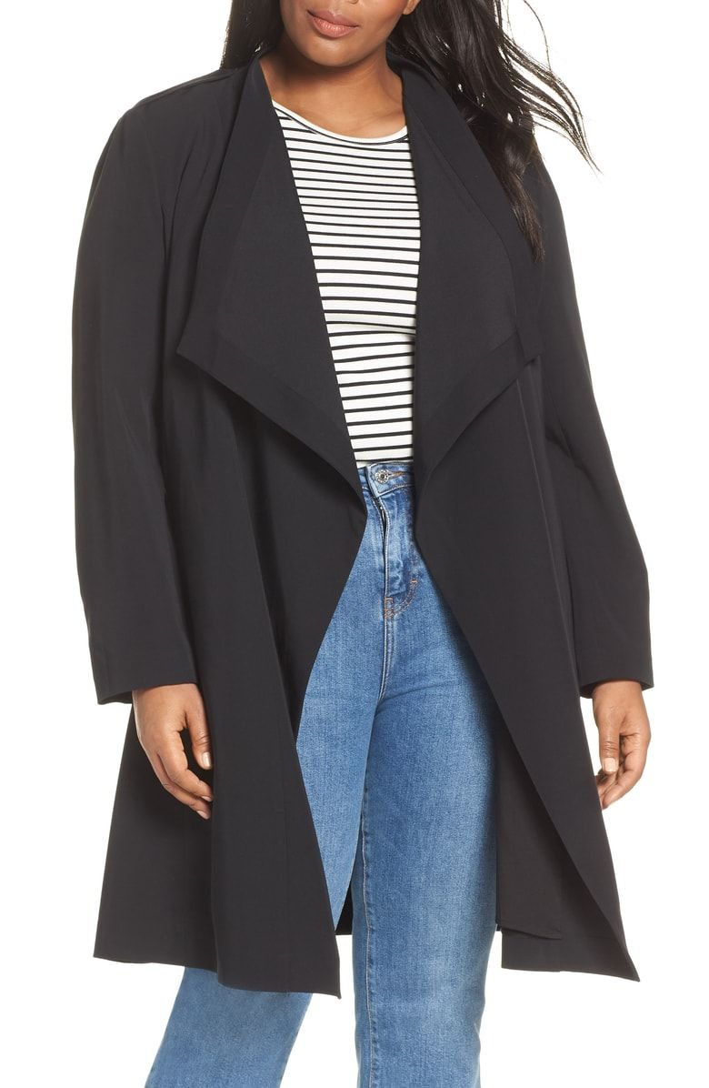 Halogen Drape Front Lightweight Jacket Plus Size Nordstrom Fashion Clothes Women Lightweight Jacket Clothes [ 1196 x 780 Pixel ]