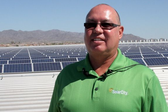 Albert Laird Solarcity S Regional Vice President Stands In Front Of 1 Million Square Feet Of Solar Panels His Green Energy Solar Installation Energy Sources
