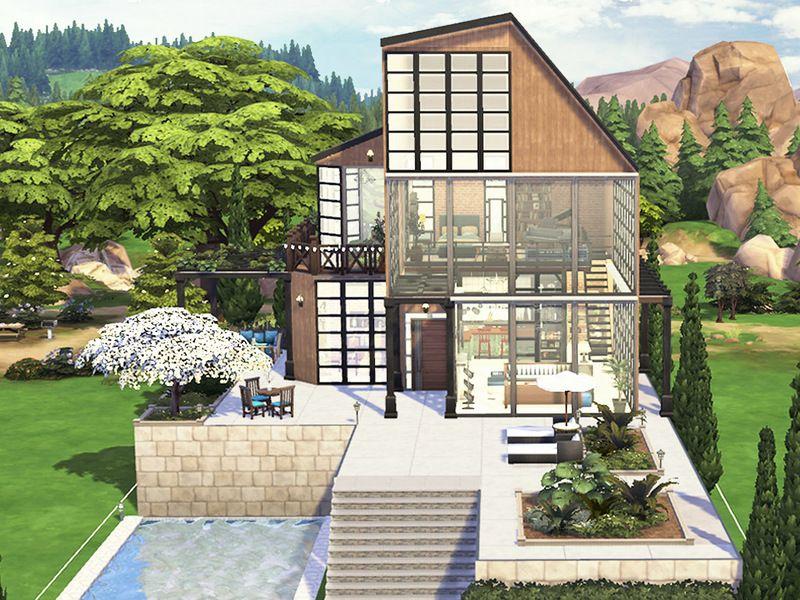 Hoanglap S The Small Loft Sims 4 Modern House Sims 4 House Building Sims House