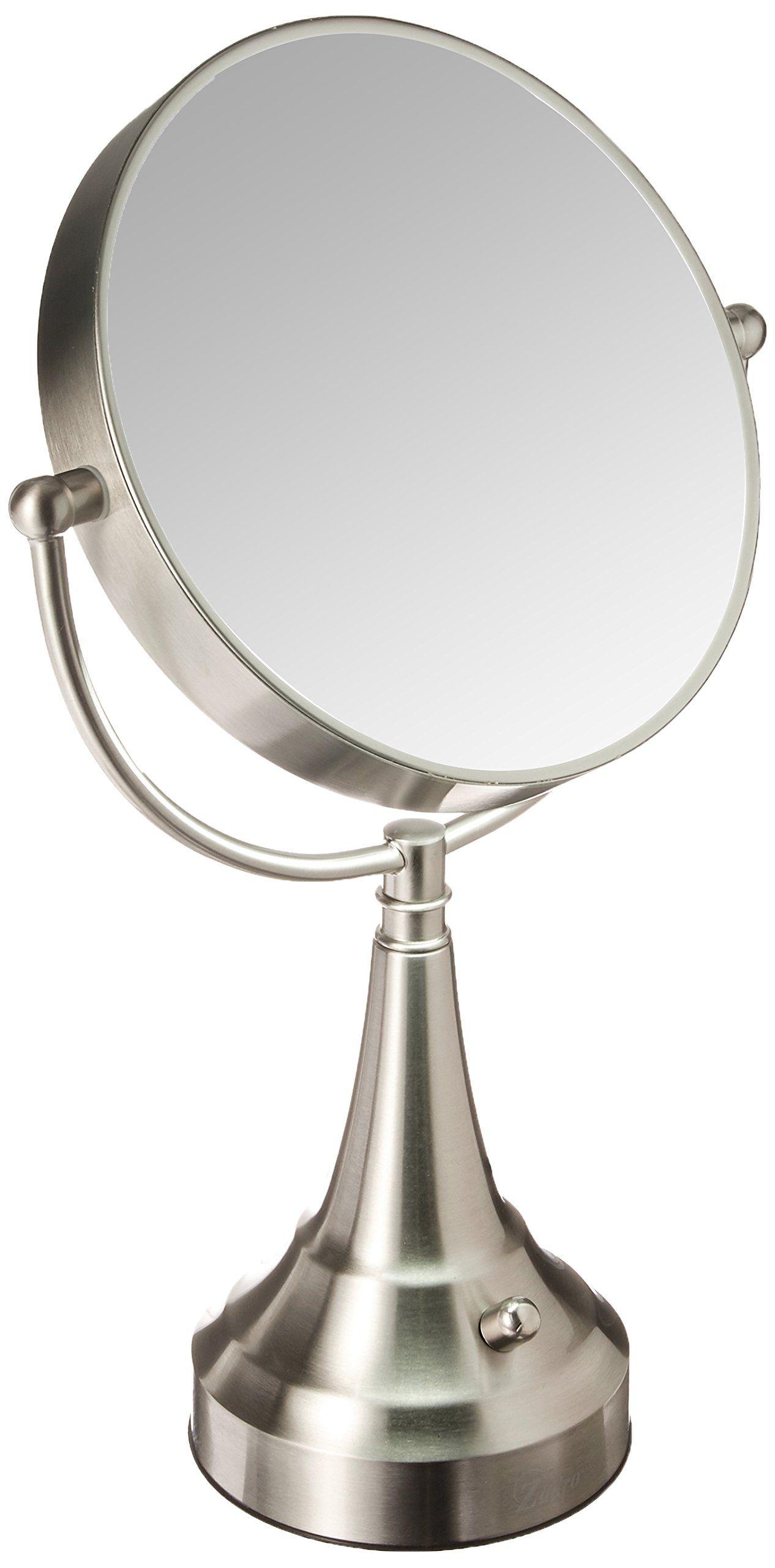 Zadro 10x Mag Next Generation Led Cordless Double Sided Round Vanity Mirror 11inch Satin Nickel Finish You Can Get Addit Mirror Vanity Mirror Nickel Finish
