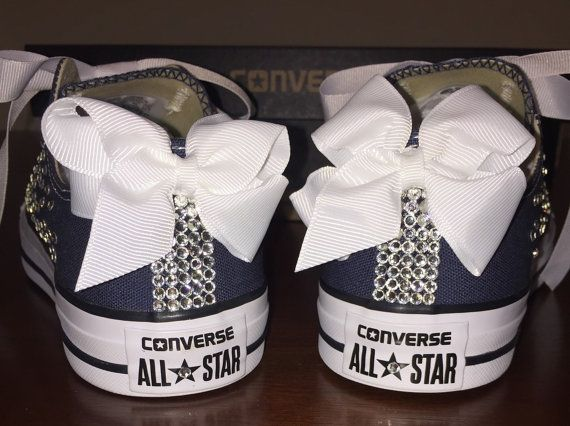 Navy Blue Bedazzled Converse in 2019  ae80efc493