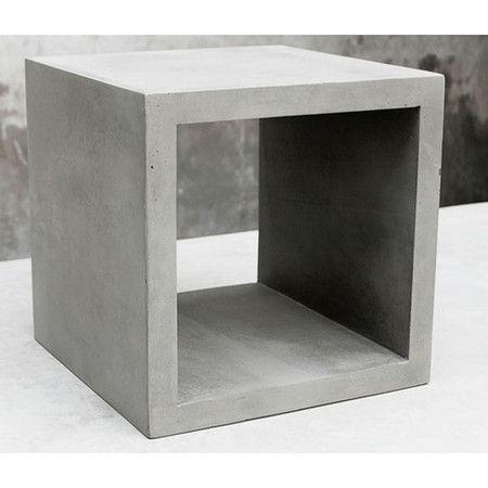 Lyon beton concrete cube small furnishings - Nachttisch beton ...