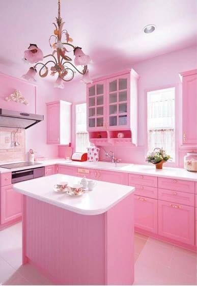 Pastel Pink Dream Kitchen Oh Yeah Cocinas Rosadas Cocina Rosa