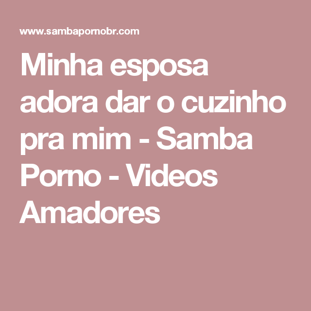 Apologise, but, Samba porno amadores
