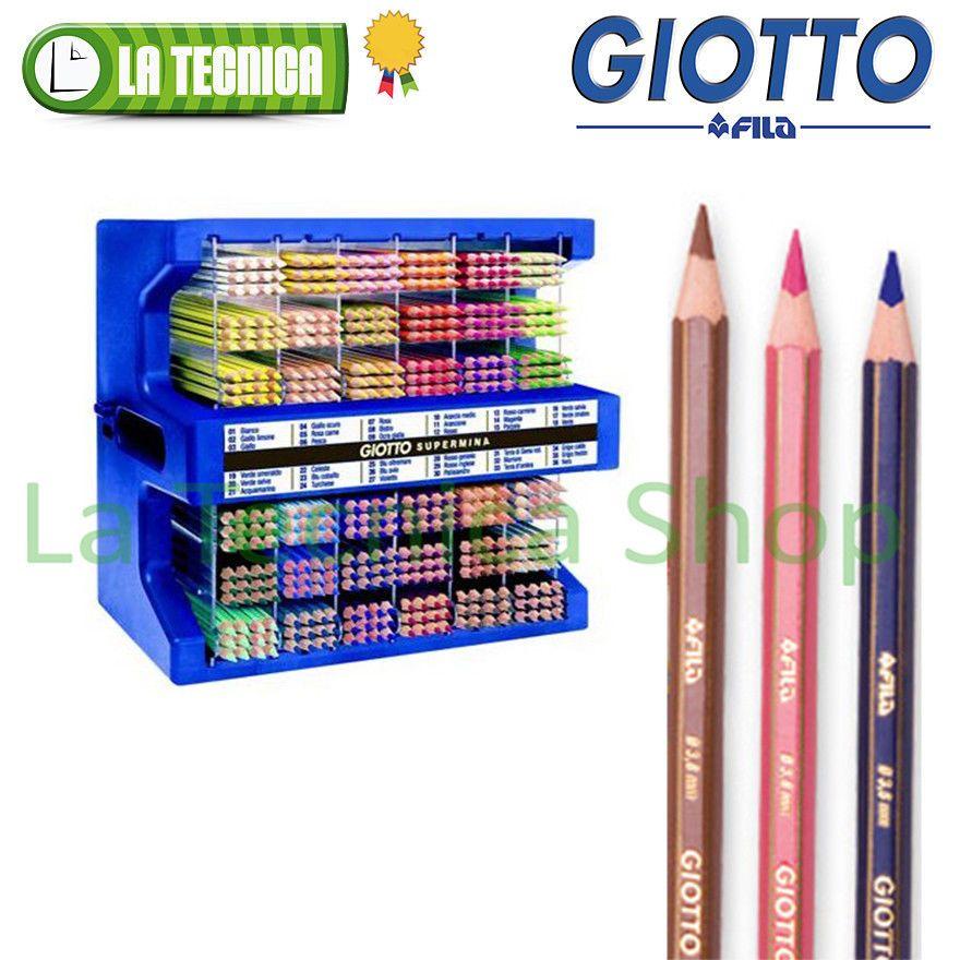GIOTTO SUPERMINA matite colorate FILATutti i colori singolipastelli colori