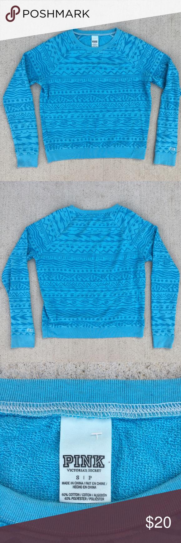 Victorias Secret Pink blue tribal print LS shirt M | Tribal prints ...