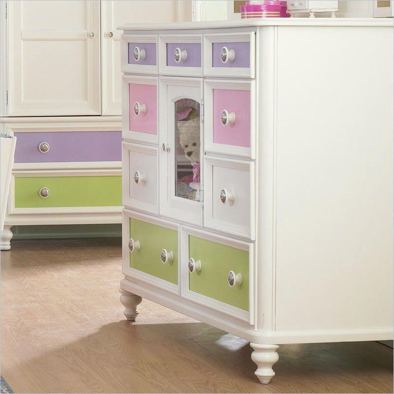 Ski Build A Bear Pawsitively Yours Kids Bureau Double Dresser In Vanilla