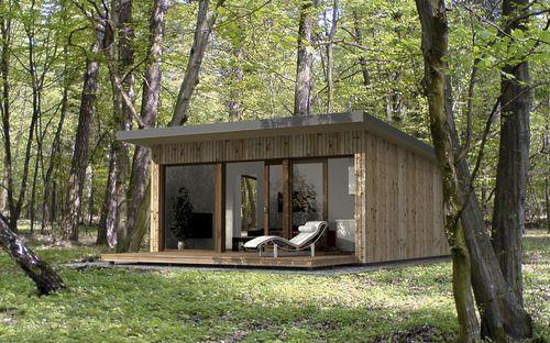 micro maison cologique pr fabriqu e contemporaine tages ek 021 ekokoncept wooden. Black Bedroom Furniture Sets. Home Design Ideas