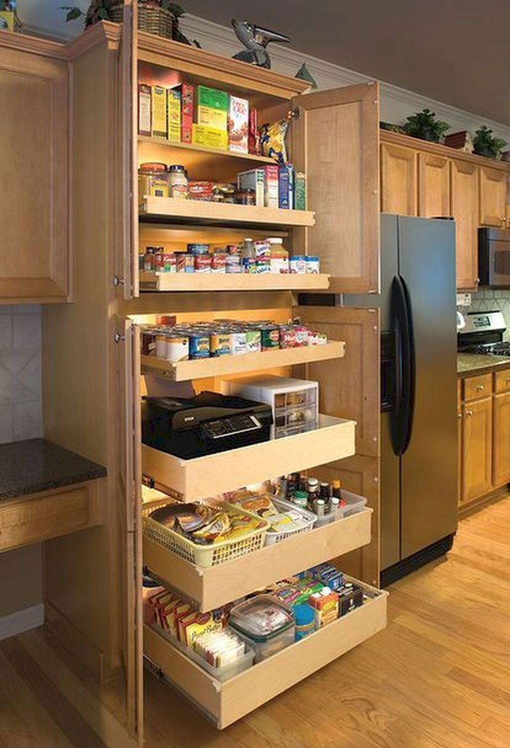 pin by kelsie on kitchen diy kitchen storage clever on clever ideas for diy kitchen cabinet organization tips for organizers id=51591