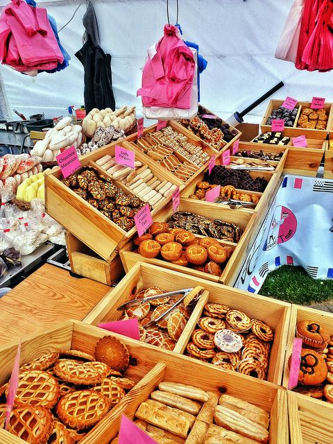 That ever sought after vintage/chic cake stall look - bake sale idea from Cake Stall at Whitehaven Festival