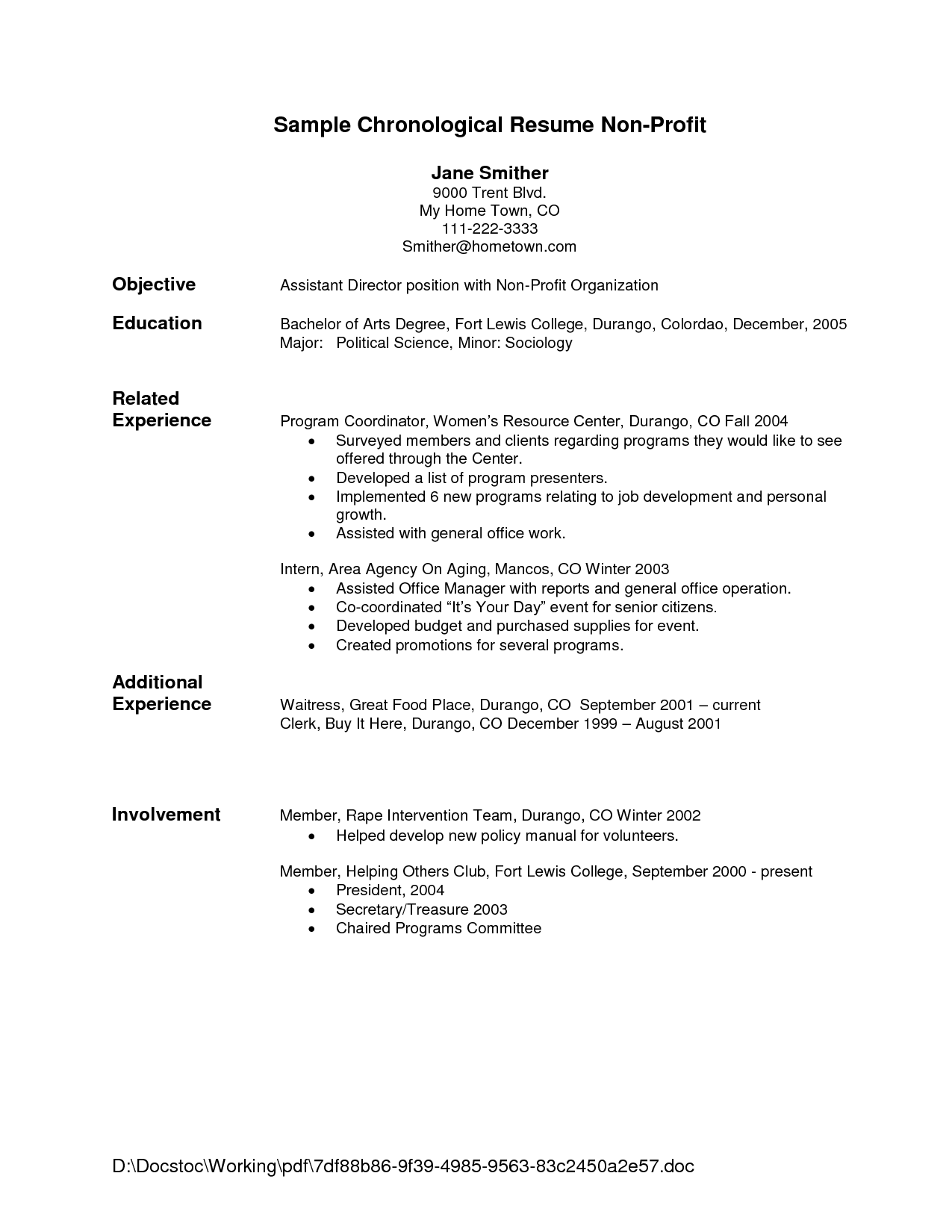 Sample Resume Letter Format Template Example For Writing With