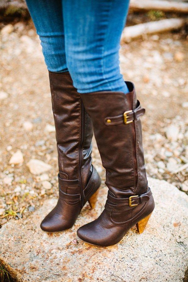 Women's Buckle Heel Boots! 3 Colors! | Jane