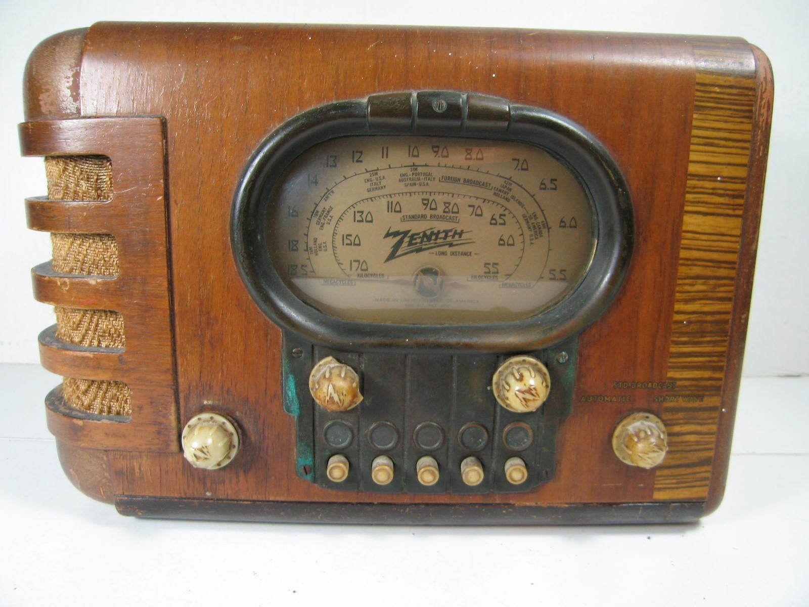 Zenith 1939 Tube Radio Model 5 S 319 For Parts Or Repair Ebay