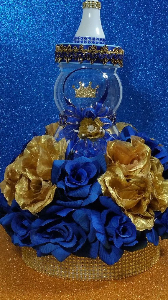Prince baby shower centerpiece for royal