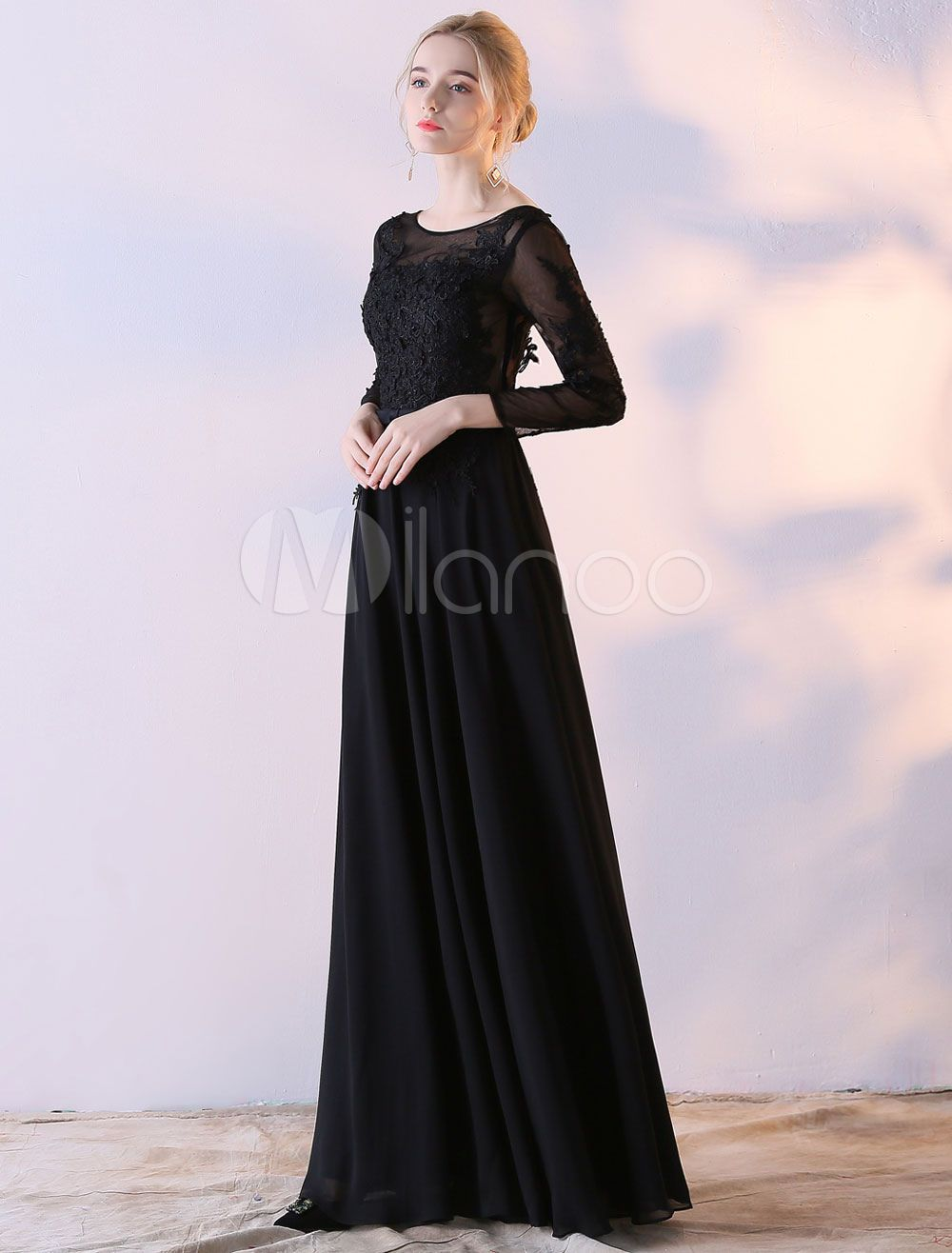 fe96e44a8085 Modest Maxi Prom Dresses