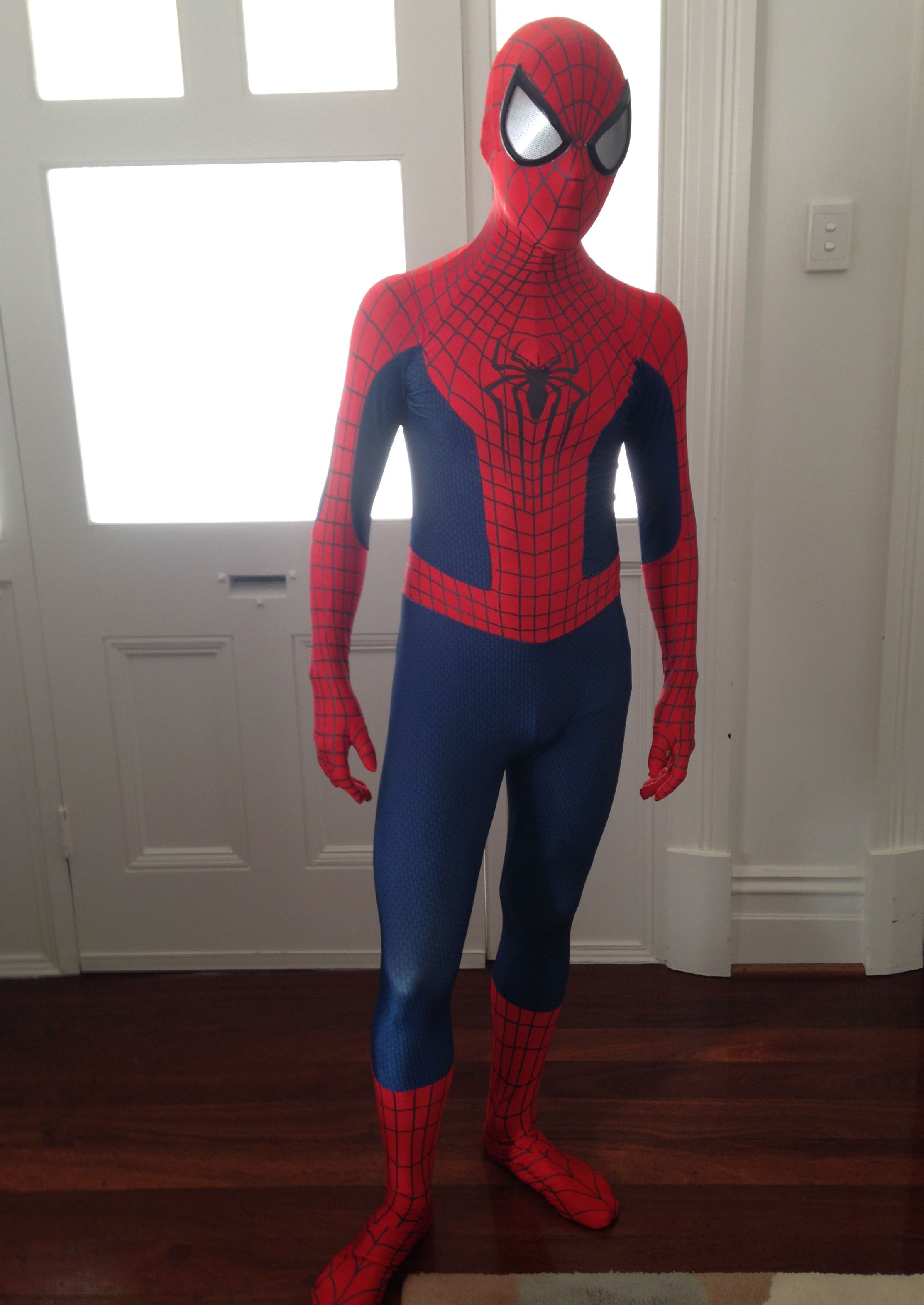 Amazing Spiderman Costume Kid And Adult Halloween Cosplay - Awesome video baby spiderman dancing