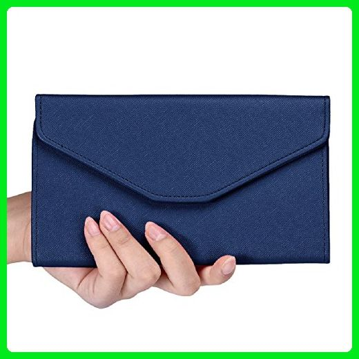 2ae73386540 Sandistore Women PU Leather Clutch Long Purse Wallet Card Holder Handbag ( Brown) - Wallets ( Amazon Partner-Link)