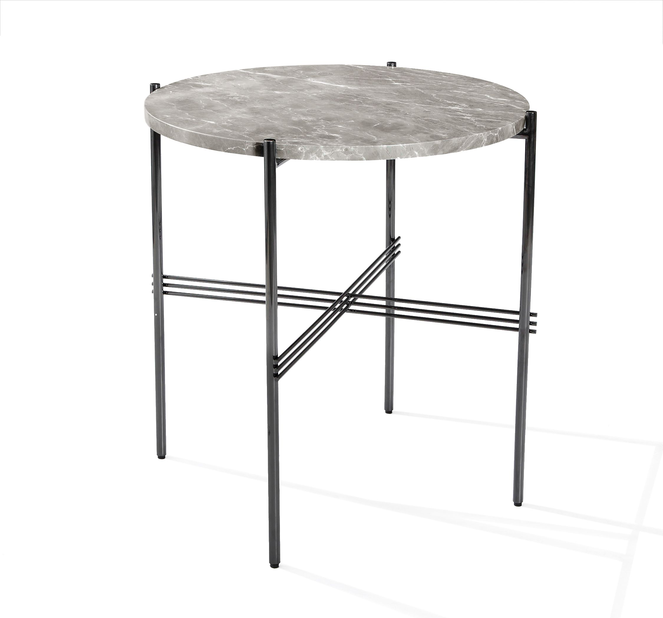 Selita Center Bistro Table Italian Gray Design By Interlude Home  Dimensions: X Dia Material: Stainless Steel/ Marble Finish: Gunmetal/  Italian Gray A Modern ...