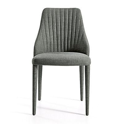 Chaise en tissu gris foncé Salon Salle  manger