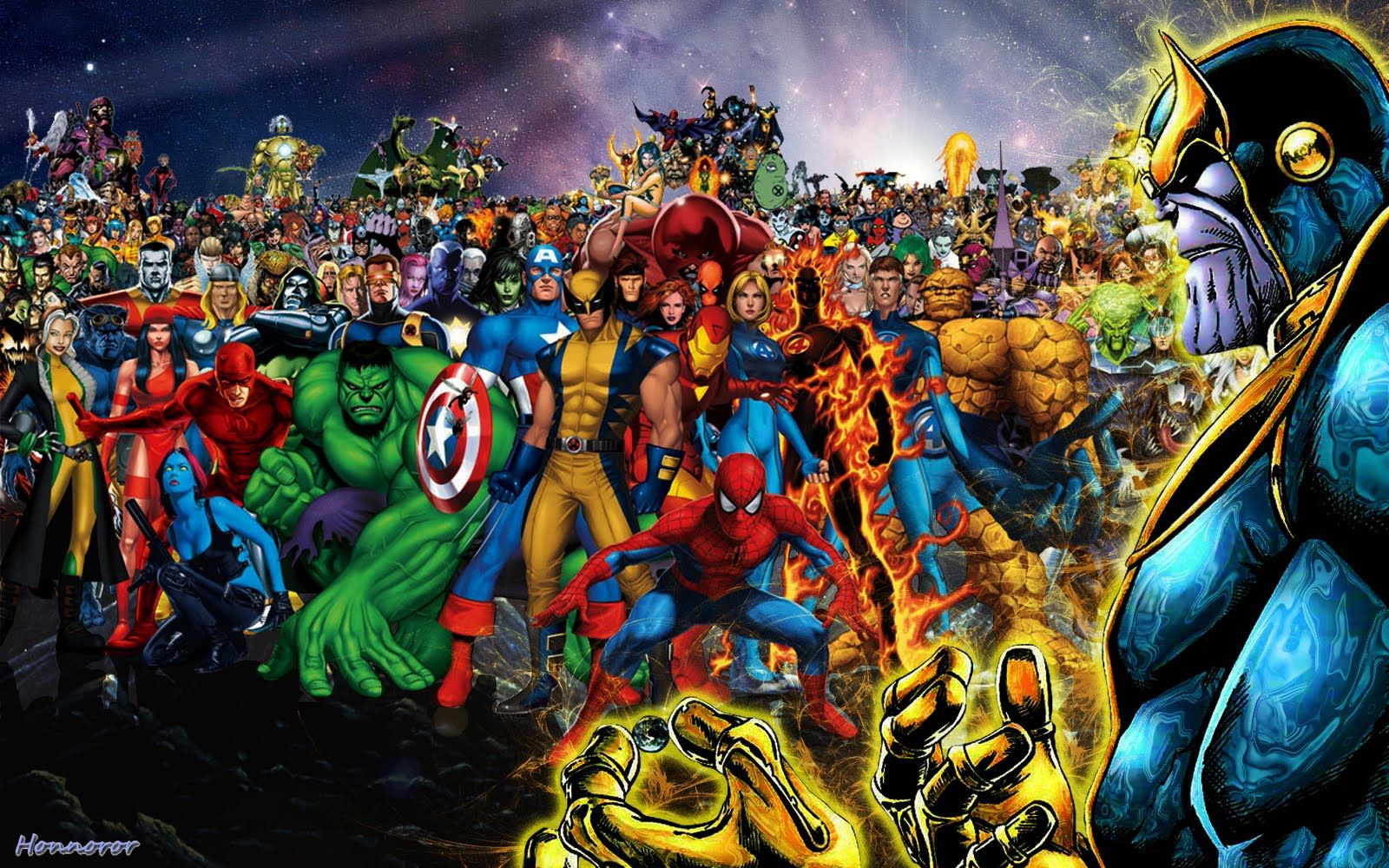 Thanos Thanos Vs All Marvel Heroes Marvel Avengers