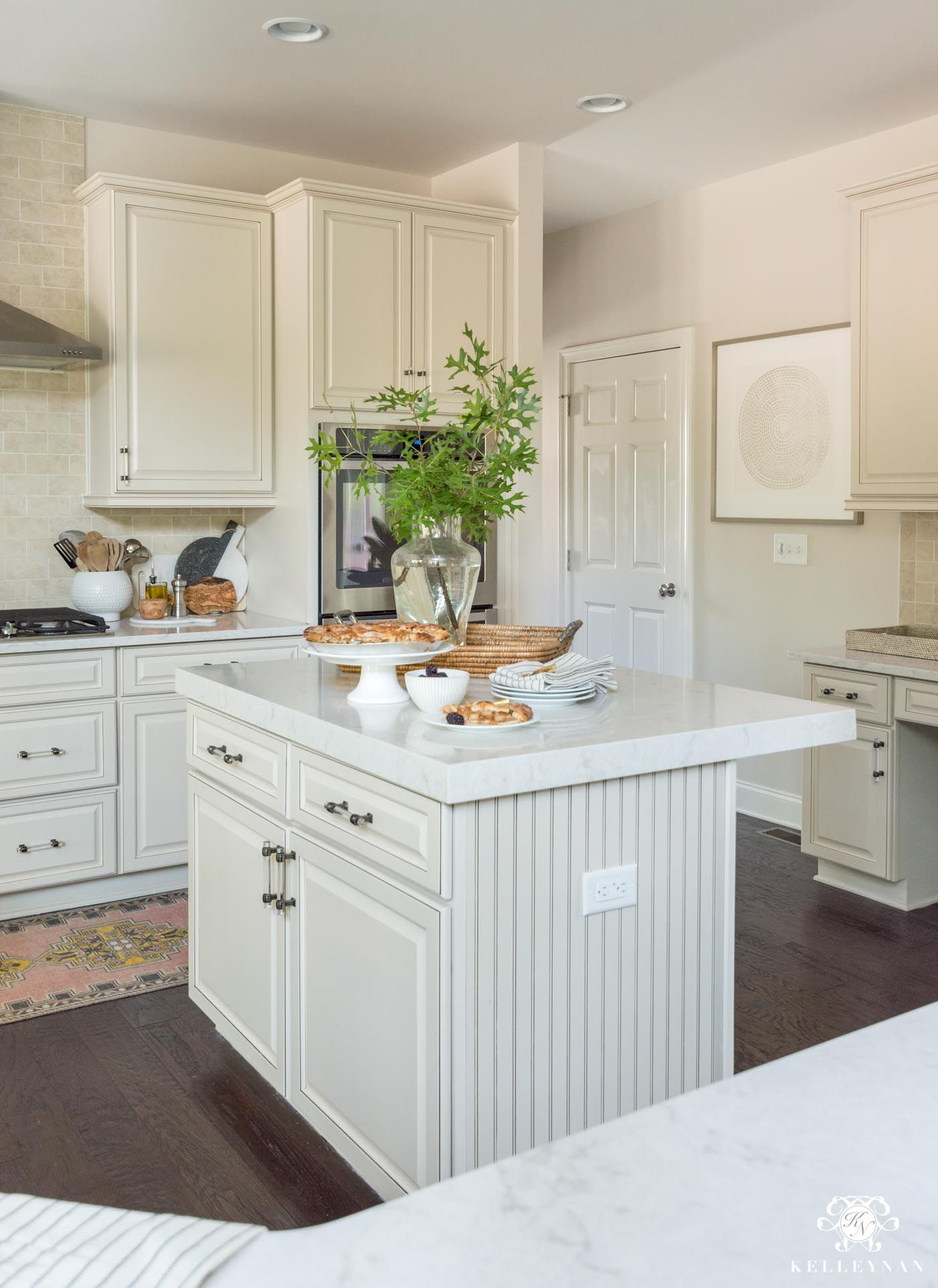 Update And Make A Traditional Cream Kitchen More Modern On A Budget Replacing Kitchen Countertops Inexpensive Kitchen Cabinets Whitewash Kitchen Cabinets
