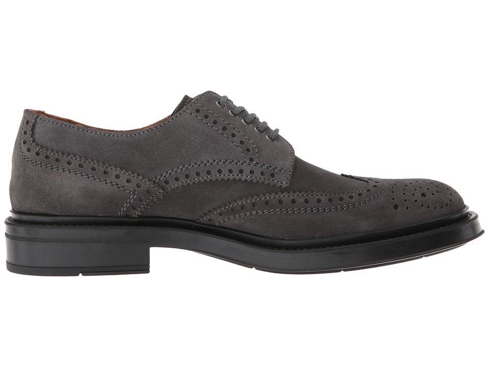 Aquatalia Landon Men s Shoes Charcoal Suede  15c697ea6