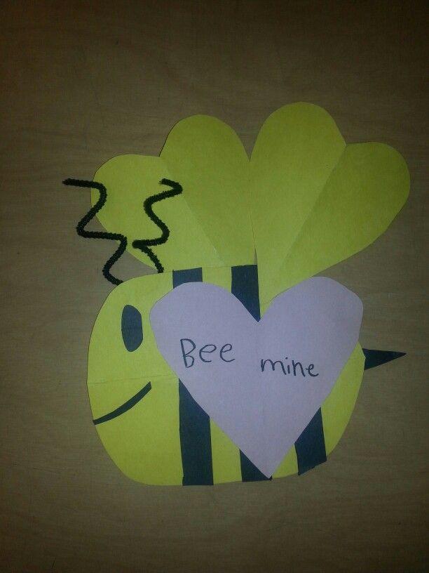 Valentine Bee, side profile variation.  Student's idea. #Art