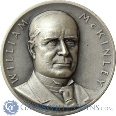 William McKinley Presidential Silver Art Medal - Medallic Art http://www.gainesvillecoins.com/category/293/silver.aspx