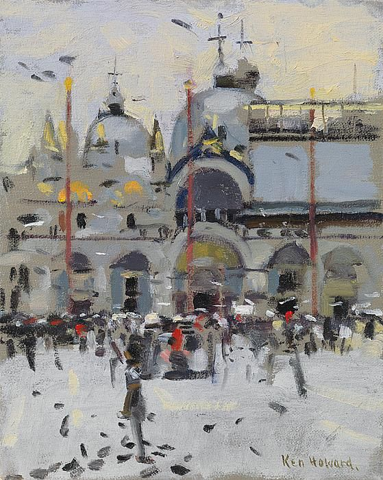 Ken Howard OBE RA - Piazza S. Marco, 2015